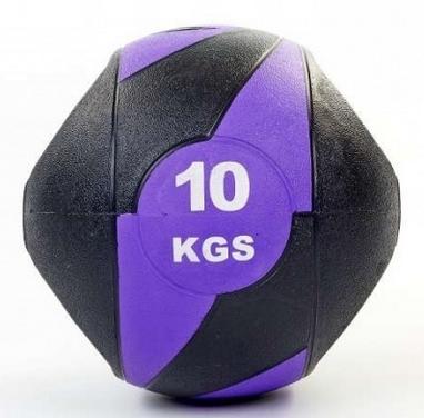 Мяч медицинский (медбол) Pro Supra FI-5111-10 10 кг черный с фиолетовым