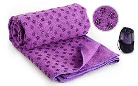 Коврик-полотенце для йоги Pro Supra Yoga mat towel FI-4938 фиолетовый