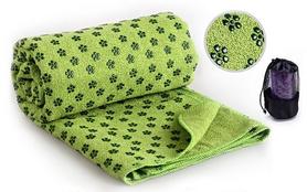 Коврик-полотенце для йоги Pro Supra Yoga mat towel FI-4938 зеленый