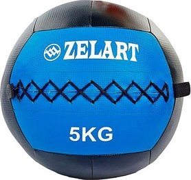 Мяч медицинский (медбол) Pro Supra Wall Ball FI-5168-5 5кг синий