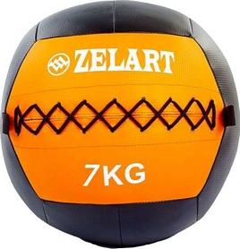 Мяч медицинский (медбол) Pro Supra Wall Ball FI-5168-7 7кг оранжевый