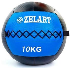 Мяч медицинский (медбол) Pro Supra Wall Ball FI-5168-10 10кг синий