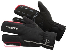 Велоперчатки Craft Bike Thermal Split Finger glove черные