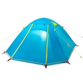 Палатка трехместная Naturehike P-Series III 210T polyester NH15Z003-P синяя