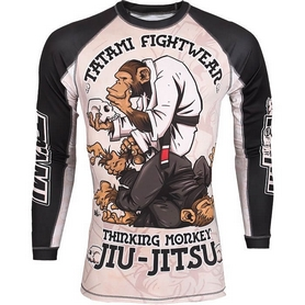 Рашгард Tatami Replika Thinking monkey L/S Принт