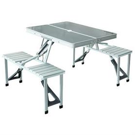 Стол раскладной + 4 стула KingCamp Delux Picnic Set Silver