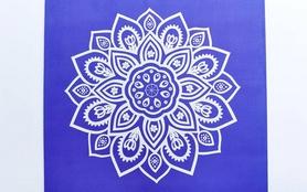 Фото 3 к товару Коврик для йоги (йога-мат) Pro Supra FI-5662-10 3 мм синий