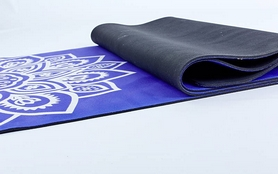 Фото 4 к товару Коврик для йоги (йога-мат) Pro Supra FI-5662-10 3 мм синий
