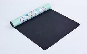 Фото 2 к товару Коврик для йоги (йога-мат) Pro Supra FI-5662-11 3 мм голубой