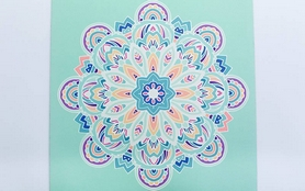 Фото 3 к товару Коврик для йоги (йога-мат) Pro Supra FI-5662-11 3 мм голубой