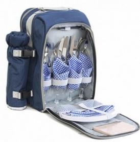 Набор для пикника на 4 персоны KingCamp Picnic Bag-4 Blue