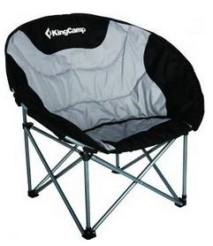 Кресло туристическое раскладное KingCamp Deluxe Moon Chair Black/grey