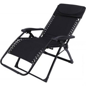 Шезлонг KingCamp Deckchair Enlarged Style Black