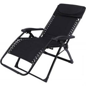 Шезлонг KingCamp Deckchair Enlarged Style Black