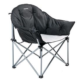 Кресло туристическое складное KingCamp Heavy duty steel folding chair Black/grey