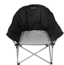 Фото 2 к товару Кресло туристическое складное KingCamp Heavy duty steel folding chair Black/grey