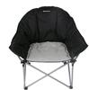 Кресло туристическое складное KingCamp Heavy duty steel folding chair Black/grey - фото 2