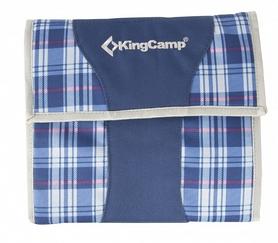 Набор для пикника на 3 персоны KingCamp Picnic Cooking Wallet Blue Checkers