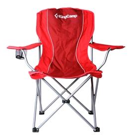 Кресло туристическое складное KingCamp Arms Chairin Steel (KC3818) Red
