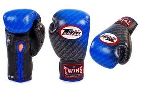 Распродажа*! Перчатки боксерские Twins FBGLL-TW1-BU синие - 12 oz