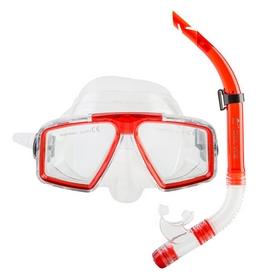 Набор для плавания (маска и трубка) Dolvor М4204Р+SN52P