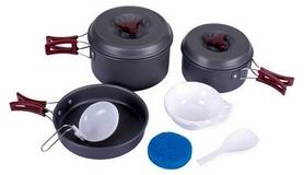Набор посуды туристический KingCamp Climber 2 Light grey