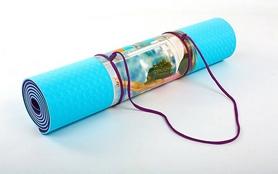 Фото 3 к товару Коврик для йоги (йога-мат) ТРЕ+TC 6 мм фиолетовый