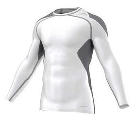 Футболка компрессионная Adidas TechFit Cool LS белая