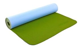 Коврик для йоги (йога-мат) ТРЕ+TC 6 мм зеленый