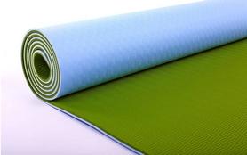 Фото 2 к товару Коврик для йоги (йога-мат) ТРЕ+TC 6 мм зеленый