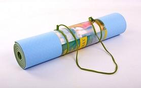 Фото 3 к товару Коврик для йоги (йога-мат) ТРЕ+TC 6 мм зеленый