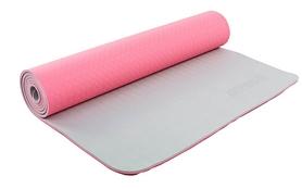 Коврик для йоги (йога-мат) ТРЕ+TC 6 мм розовый