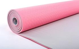 Фото 2 к товару Коврик для йоги (йога-мат) ТРЕ+TC 6 мм розовый