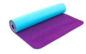 Коврик для йоги (йога-мат) ТРЕ+TC 6 мм фиолетовый