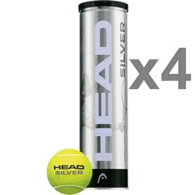 head Мячи для большого тенниса Head Silver Metal Can (4 шт) 571304
