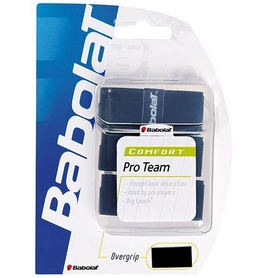 babolat Намотка для теннисной ракетки Babolat Pro Team Tacky Overgrip черная 3 шт 653013-105
