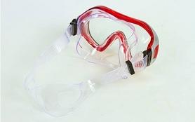 Фото 3 к товару Набор для плавания Dorfin (ZLT) (маска+трубка) красный ZP-26542-PVC-R