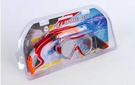 Фото 8 к товару Набор для плавания Dorfin (ZLT) (маска+трубка) красный ZP-26542-PVC-R