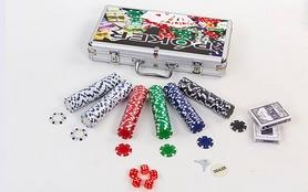 Фото 2 к товару Набор для игры в покер IG-4392-300 300 фишек без номинала