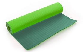 Распродажа*! Коврик для йоги (йога-мат) FI-3046 ТРЕ+TC 6 мм салатовый/зеленый