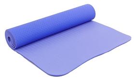 Коврик для йоги (йога-мат) FI-3046 ТРЕ+TC 6 мм сиреневый