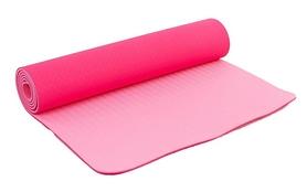 Коврик для йоги (йога-мат) FI-3046 ТРЕ+TC 6 мм розовый
