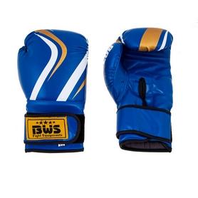 Перчатки боксерские PVC BWS Club синие 12 Oz - уцененные*