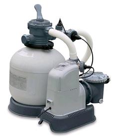 Насос фильтрующий для бассейна песочный с хлоргенератором Intex 28676/28678 (хлорирование 7 гр/ч, насос 6056 л/ч)