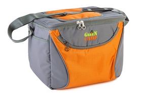 Сумка изотермическая Green Camp GC1410-3 15 л оранжевая