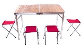 Стол раскладной + 4 стула Green Camp C03-12