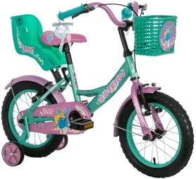 "Велосипед детский Stern Vicky 14"" зеленый/розовый"