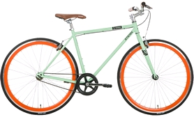 """Велосипед городской Stern Q-stom - 28"""", рама - 50 см, оранжево-зелёный (17QSTOMA50)"""
