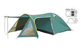 Фото 1 к товару Палатка четырехместная Mountain Outdoor (ZLT) FRT-207-4