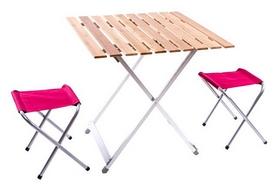 Стол раскладной + 2 стула Green Camp C03-13